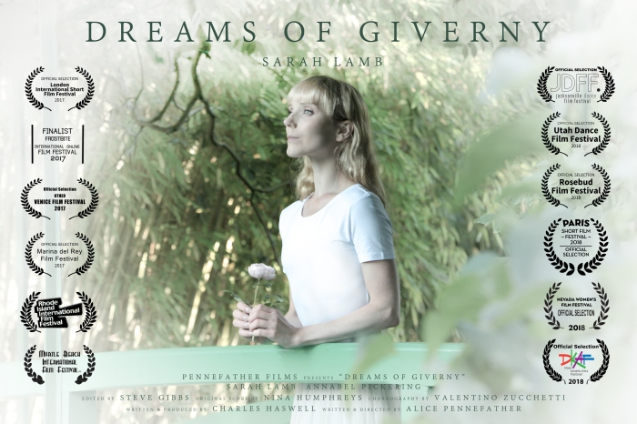 DREAMS OF GIVERNY POSTER - with Laurels